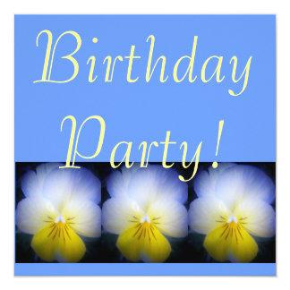 Festa de aniversário convite quadrado 13.35 x 13.35cm