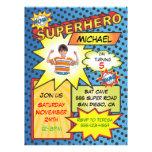 Festa de aniversário da inserção da foto do super- convite personalizado