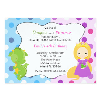 Festa de aniversário da princesa Convite Menina do