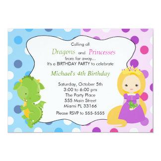 Festa de aniversário da princesa Convite Menino do
