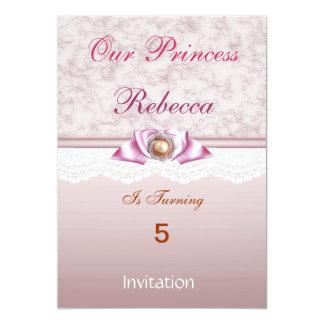 Festa de aniversario de meninas da princesa Doce Convite Personalizado