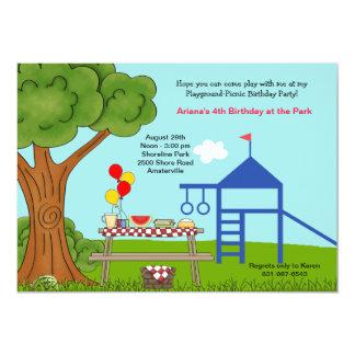 Festa de aniversário do piquenique do campo de convite 12.7 x 17.78cm