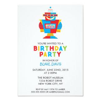 Festa de aniversário do robô do divertimento