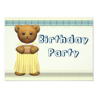Festa de aniversário para ursos de ursinho convite 12.7 x 17.78cm