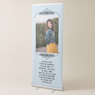 Festa de casamento ou foto personalizada da banner retrátil