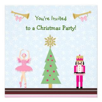 Festa de Natal dos miúdos - árvore, bailarina, Nut Convites Personalizado