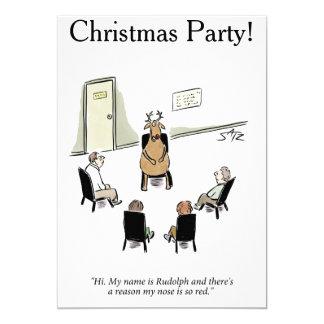 Festa de Natal engraçada Convite 12.7 X 17.78cm
