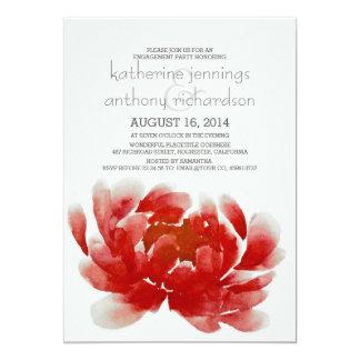 festa de noivado da flor da flor da aguarela convite 12.7 x 17.78cm