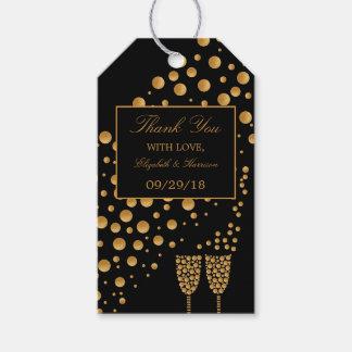 Festa de noivado das bolhas de Champagne do ouro