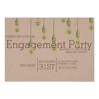 Festa de noivado de suspensão das ampolas | do convite 12.7 x 17.78cm