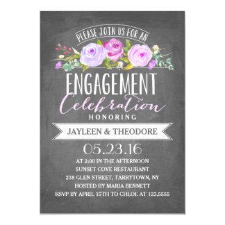 Festa de noivado do noivado | do quadro convite 12.7 x 17.78cm