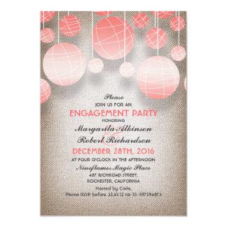 festa de noivado elegante de serapilheira das convite 12.7 x 17.78cm