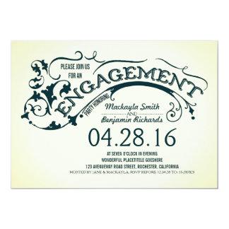Festa de noivado moderna da tipografia & dos convite 12.7 x 17.78cm