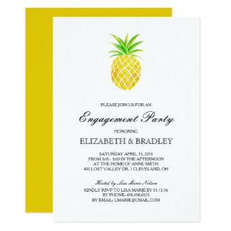 Festa de noivado tropical da aguarela do abacaxi convite 12.7 x 17.78cm