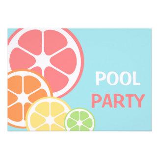 Festa na piscina do citrino convites personalizados