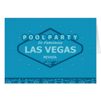 FESTA NA PISCINA no cartão fabuloso de Las Vegas