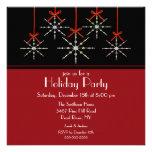 Festa natalícia elegante do ornamento do floco de  convites personalizados