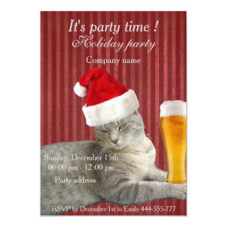 Festa natalícia engraçada na moda elegante do gato