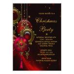 Festa natalícia vermelha elegante do Natal do ouro Convite Personalizado