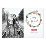 Festão do Natal Foto Cartão de Natal Convite 12.7 X 17.78cm
