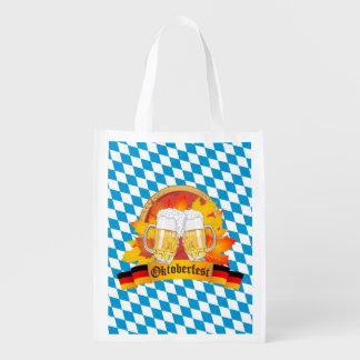 Festival alemão da cerveja de Oktoberfest Sacolas Reusáveis