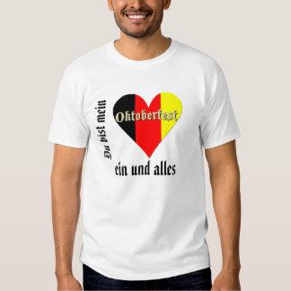 Festival de Oktoberfest no coração da bandeira Tshirts