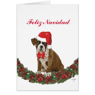 Festivo do perro do lindo de Felize Navidad Cartão