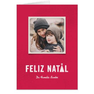 Festivo faz natal cartão