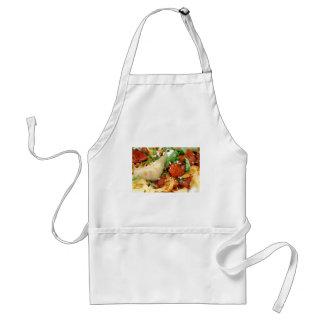 Fettuccini com tomate e manjericão Roasted Avental