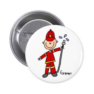Figura botão da vara do bombeiro bóton redondo 5.08cm