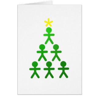 Figura cartão da vara da árvore de Natal