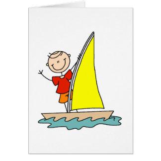 Figura cartão da vara da navigação