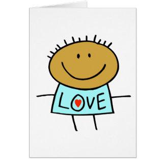 Figura cartão da vara do amor