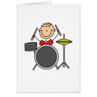 Figura cartão da vara do baterista