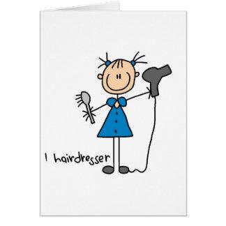 Figura cartão da vara do cabeleireiro