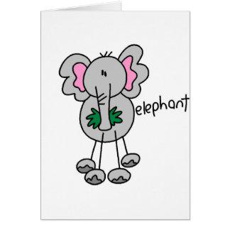 Figura cartão da vara do elefante