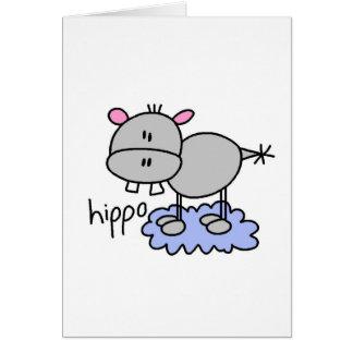Figura cartão da vara do hipopótamo