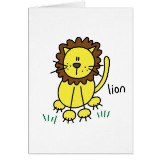 Figura cartão da vara do leão
