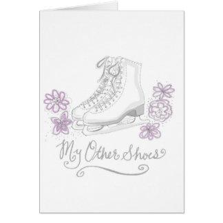 Figura cartão do aniversário do patinagem no gelo