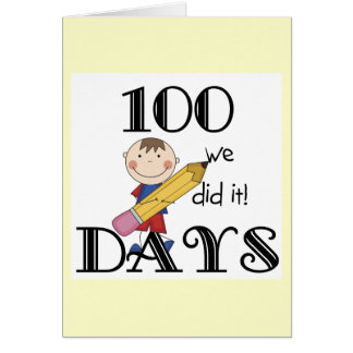 Figura da vara 100 dias cartão comemorativo