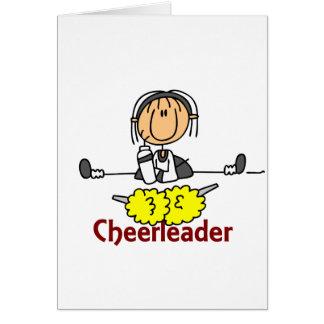 Figura da vara do cheerleader cartão comemorativo