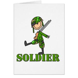 Figura da vara do soldado cartão comemorativo