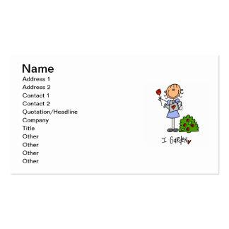 Figura de jardinagem da vara cartão de visita