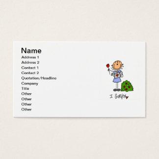 Figura de jardinagem da vara cartão de visitas