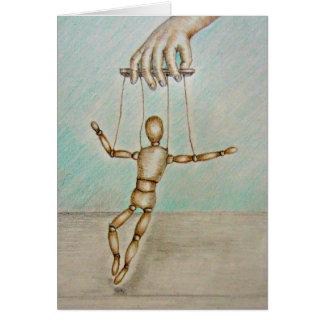 figura de madeira mostra da dança cartão comemorativo