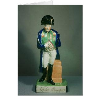 Figura de Staffordshire de Napoleon Bonaparte Cartão Comemorativo