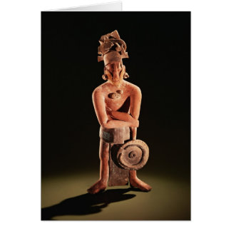 Figura de um guerreiro com um protetor cartão comemorativo