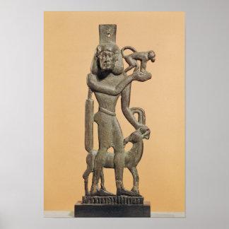 Figura de um homem que guardara um macaco poster