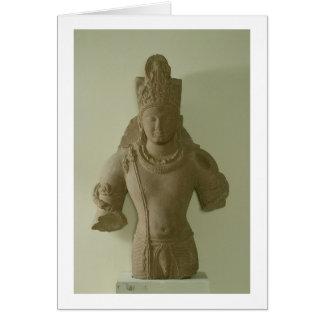 Figura do senhor Vishnu, Mathura (arenito Cartão Comemorativo