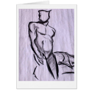 Figura masculina estudo cartão comemorativo